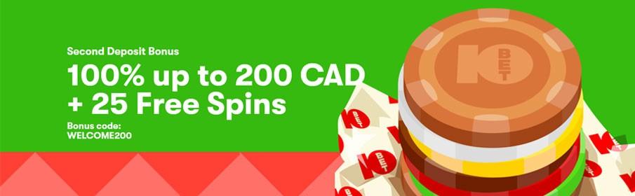0Bet Casino 100% Second Deposit Bonus