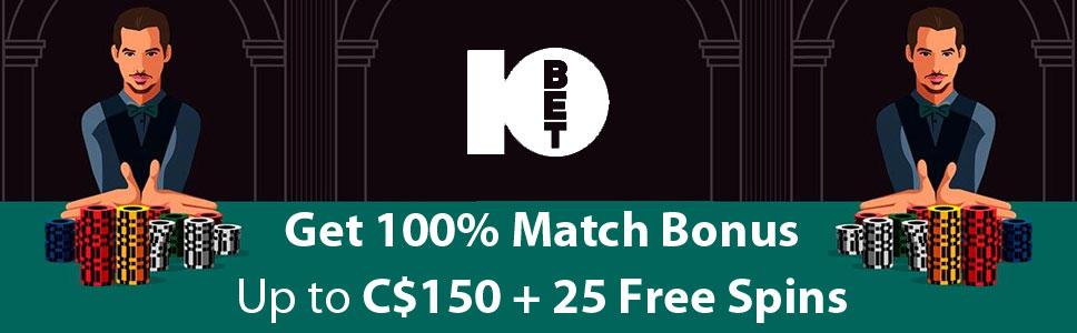 10Bet Casino Welcome Bonus