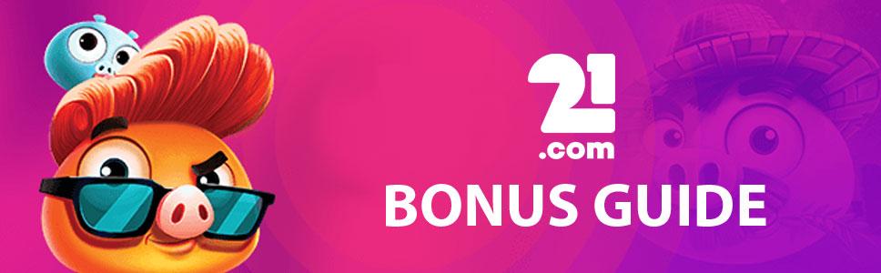 21.com Casino Bonus & Promotions