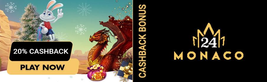 Christmas Bonus & Daily Cashback at 24Monaco Casino