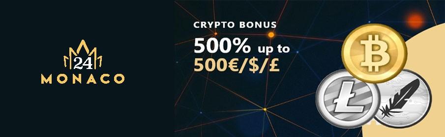 24Monaco Casino Crypto Bonus