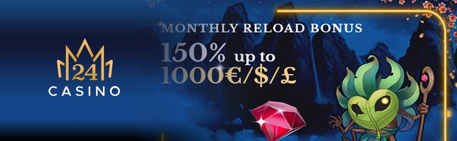 24Monaco Casino Monthly Reload Bonus