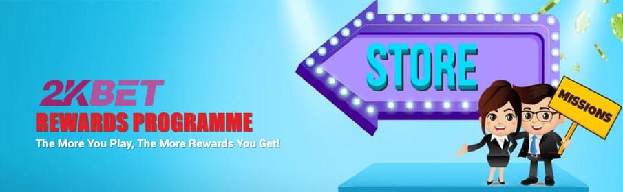 2KBet Casino Rewards Programme