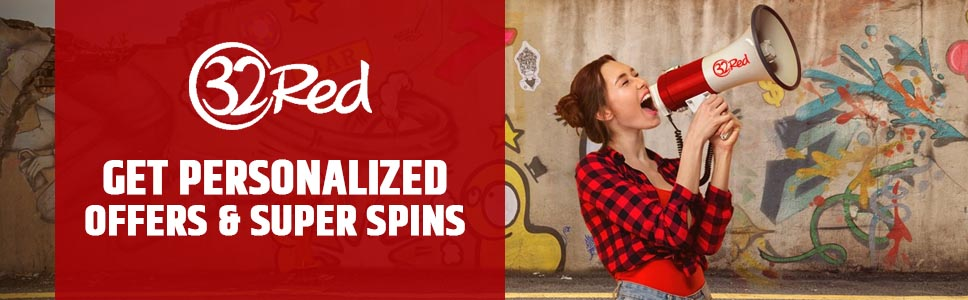32red Casino My Red Rewards Bonus Personalized Offers
