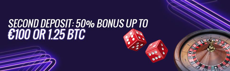 7bit Casino Second Deposit Offer Get Upto 100 Bitcoin Bonus