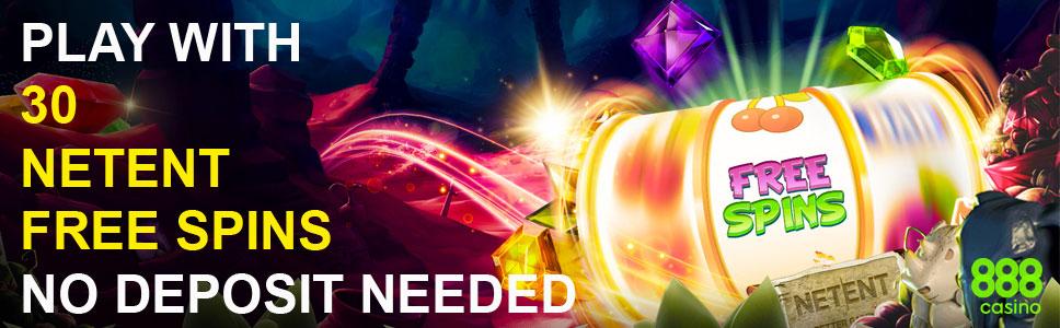 888 Casino 30 Free Spins No Deposit Bonus on NetEnt Games