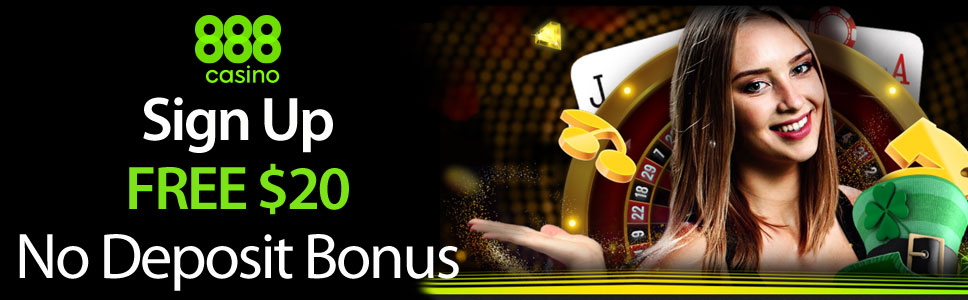 888 Casino FREE $20 No Deposit Bonus for Slots