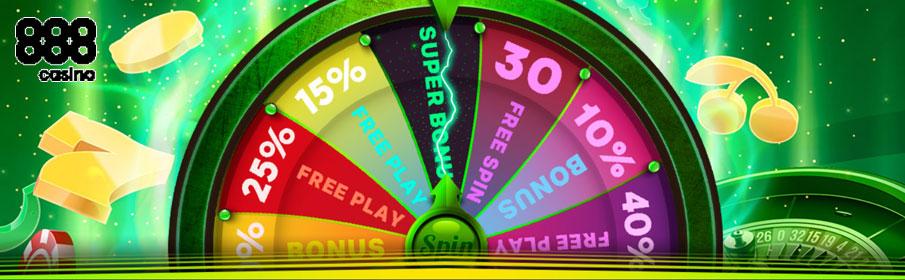 888 Casino Wheel of Fortune Promotion