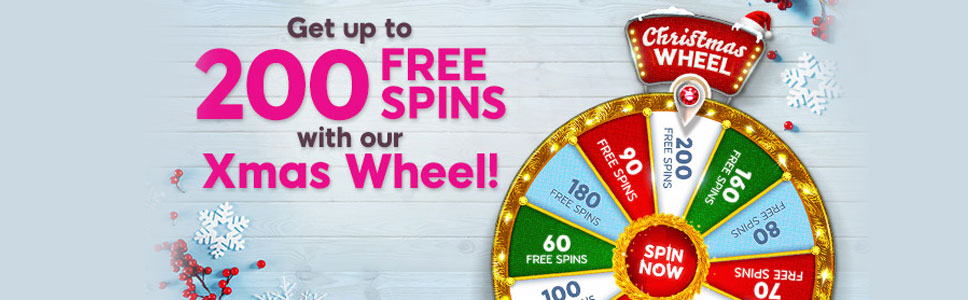 888 Ladies Bingo Christmas Wheel Promotion Up To 200 Free Spins
