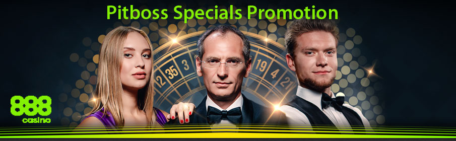 Pitboss Specials Promotion to Get Cashback & Prizes at 888 Live Casino