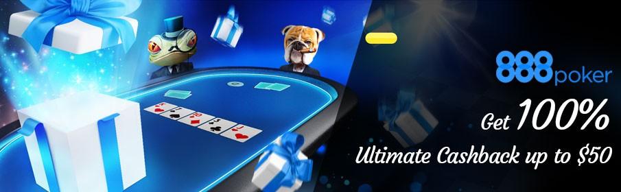888 Poker Ultimate Cashback Bonus