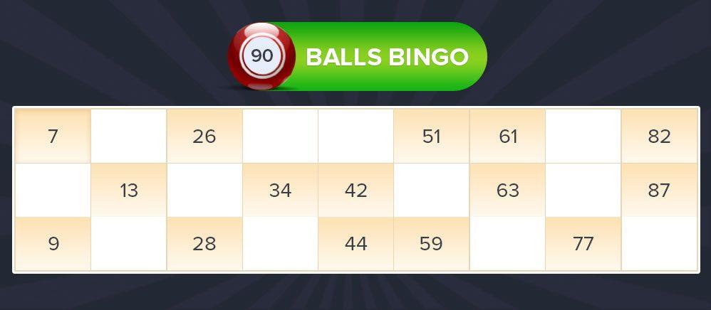 90 balls bingo