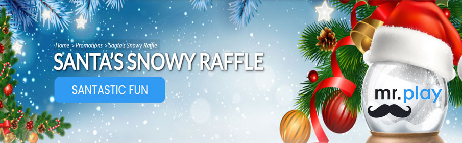 Mr. Play Casino Christmas Snowy Raffle €15,000 Cash Prize