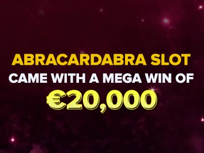The Release of Abracardabra Slot Came With a Mega Win of  €20,000 For a Casumo Casino Player