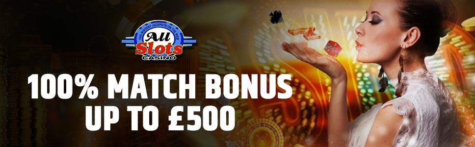All Slots Casino Third Deposit Offer