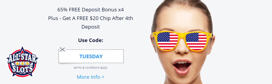 All Star Slots Casino Tuesday offer