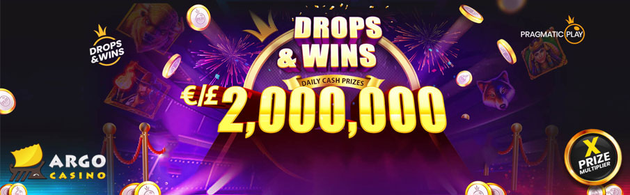 Argo Casino Drops & Win Offer - €2,000,000 Prize Pool