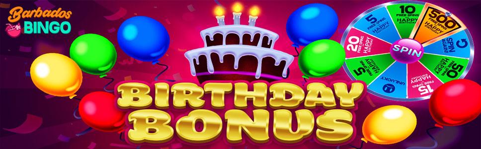Barbados Bingo Birthday Bonus