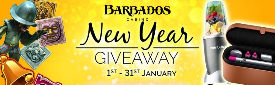 Barbados Casino New Year Giveaway Promotion
