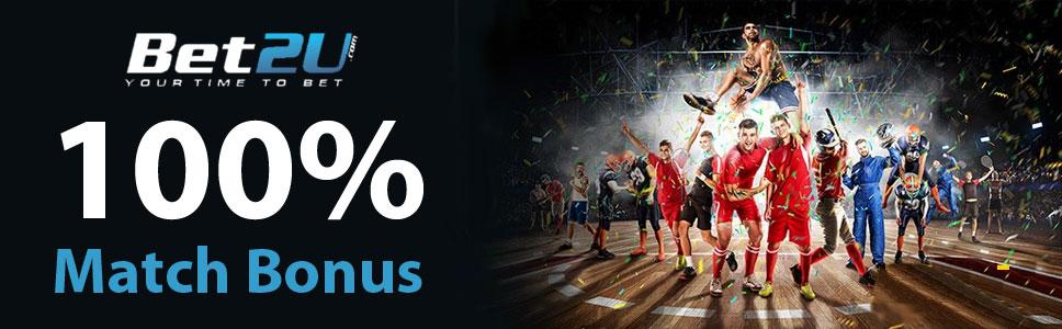 Bet2U Casino 100% Match Bonus