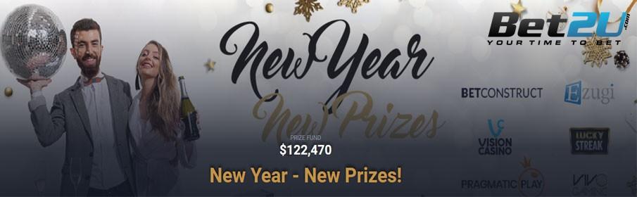 Bet2U Casino $122,470 New Year Cash Prize Tournament