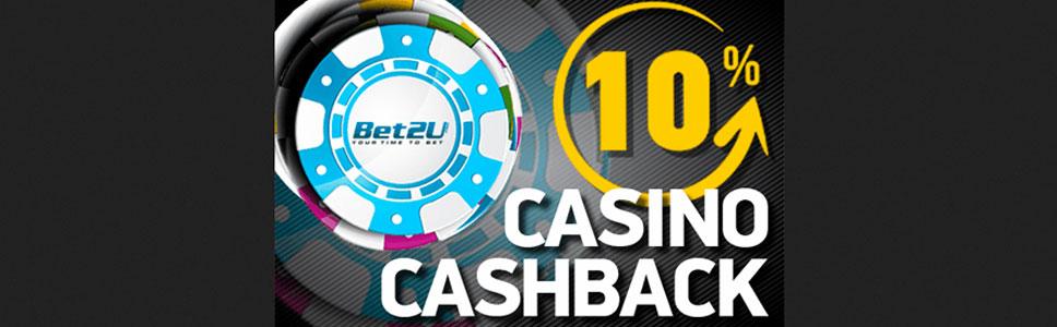 Bet2u Casino Weekly Cashback