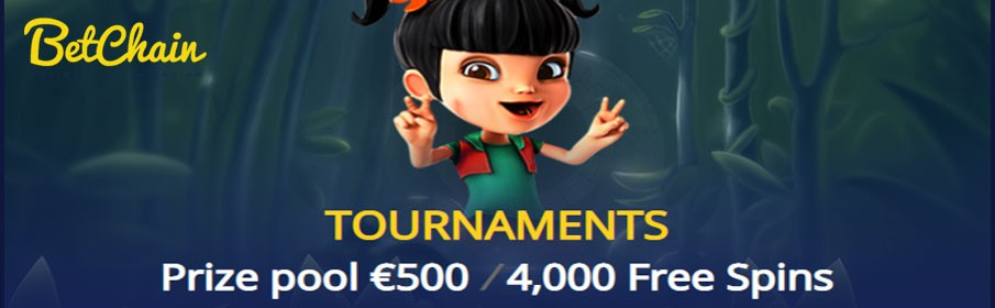 BetChain Casino Spin Fest Tournament – 4000 Free Spins