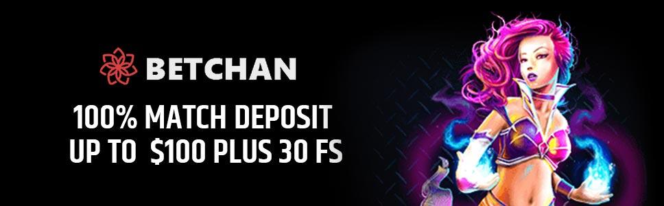 Betchan Casino First Deposit Bonus