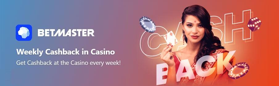 Betmaster Casino Cashback Bonus - Get up to €100