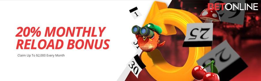 Betonline Casino Monthly Bonus