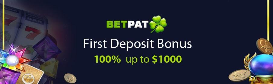 100% First Deposit Bonus of up to $1000