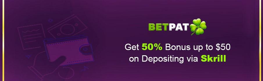 BetPat Casino Skrill Bonus