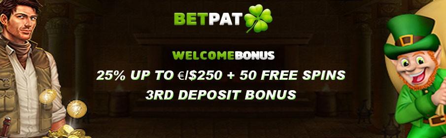 BetPat Casino Third Deposit Bonus