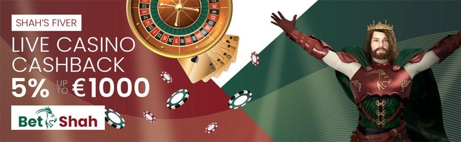 Betshah Casino Cashback Bonus