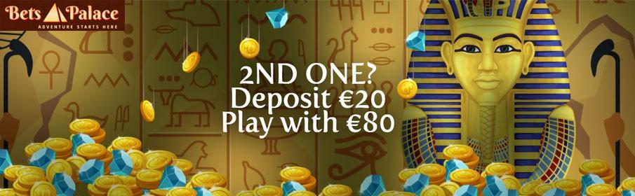 Betspalace Casino 300% Second Deposit Bonus