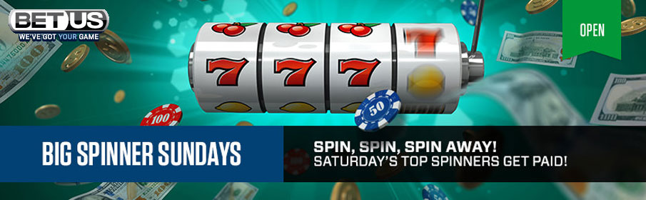 BetUS Casino Big Spinner Sunday Bonus