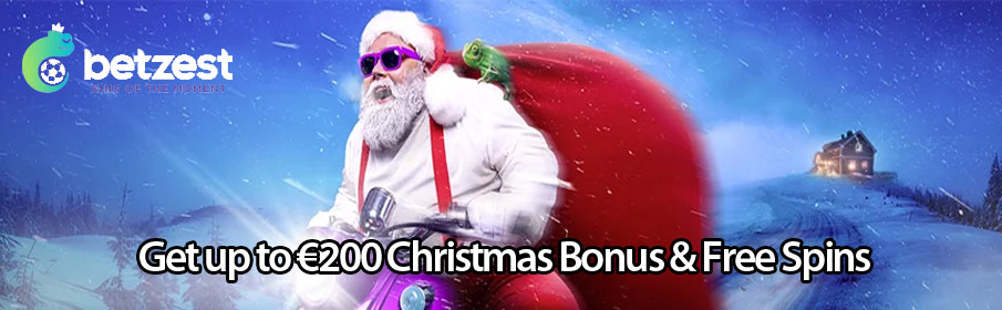 Get up to €200 Christmas Bonus & Free Spins this Christmas