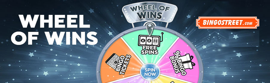Bingostreet Wheel of Wins Promotion