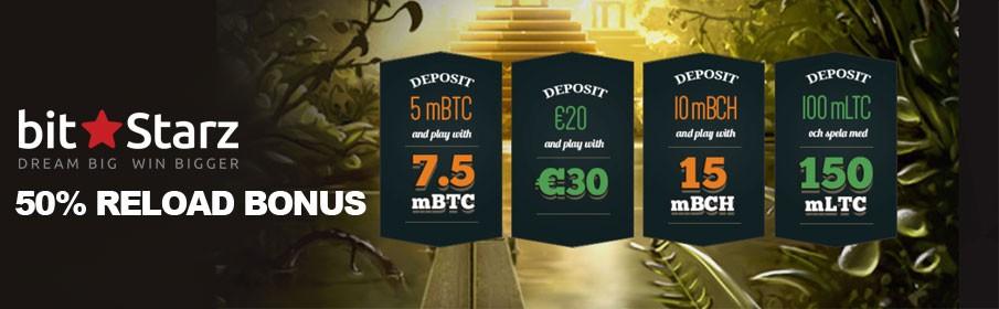 BitStarz Casino 50% Reload Bonus up to $1,000