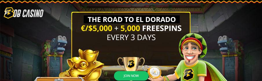 Bob Casino Slot Tournament - €5000 Prize Pool & Free Spins