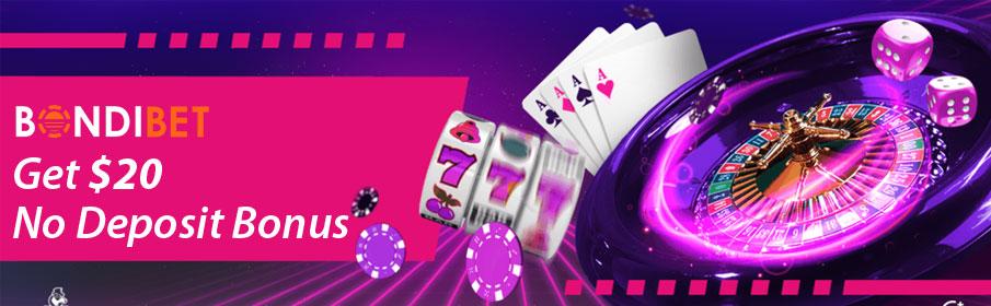 Bondibet Casino $20 No Deposit Bonus