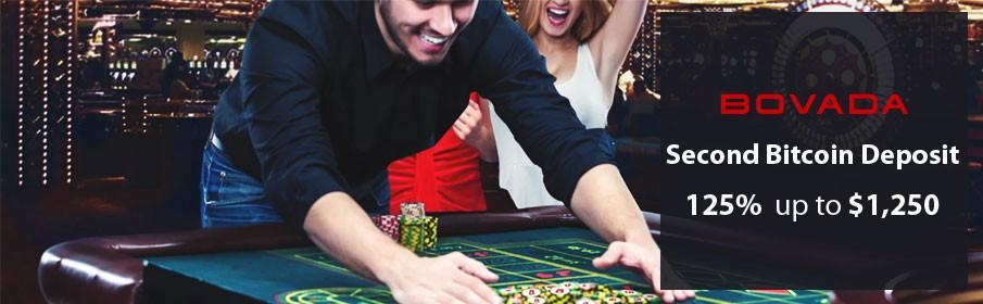 Second Bitcoin Deposit Bonus of up to $1,250 at Bovada Casino