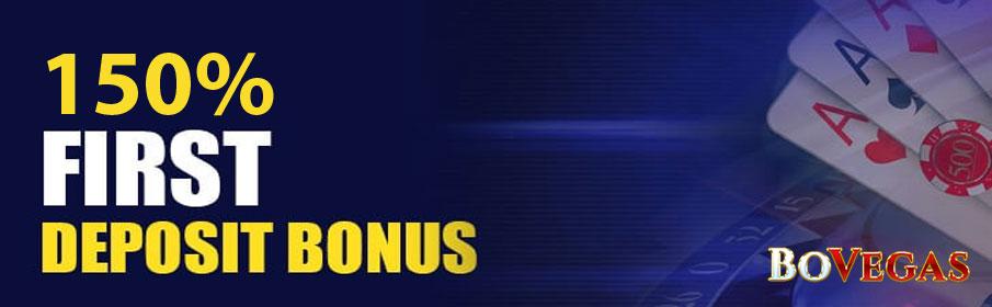BoVegas Casino First Deposit Bonus