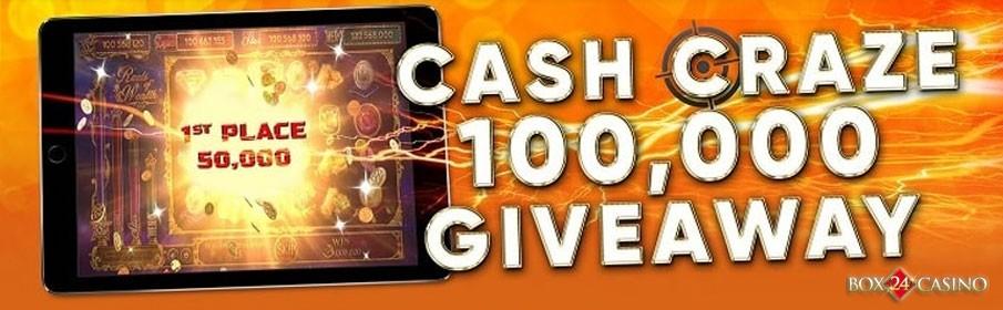 Box24 Casino Cash Craze $100,000 Giveaway