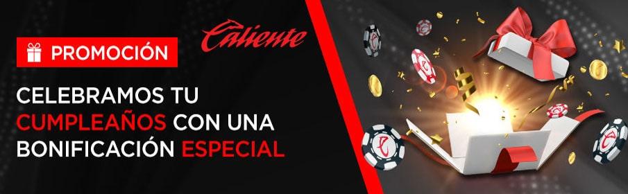 Caliente Casino Birthday offer