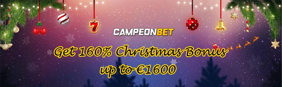 Campeonbet Casino Christmas Bonus - Get up to €1600