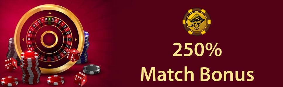 Captain Jack Casino 250% Match Bonus
