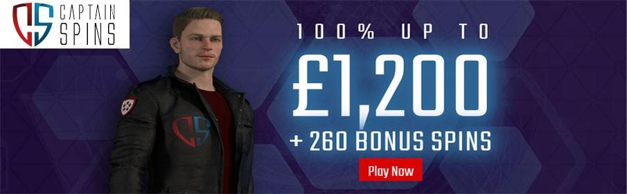 Captain Spins Casino New Player Bonus