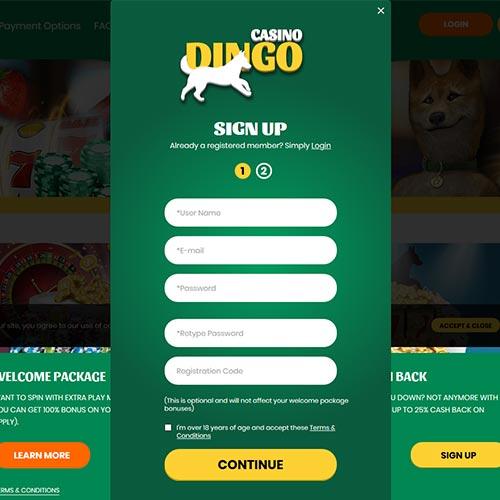 Casino Dingo Signup