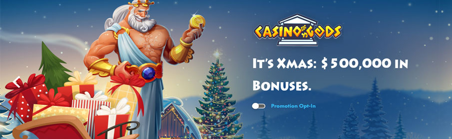 Prize Pool of $500,000 via Christmas Promotion at Casino Gods